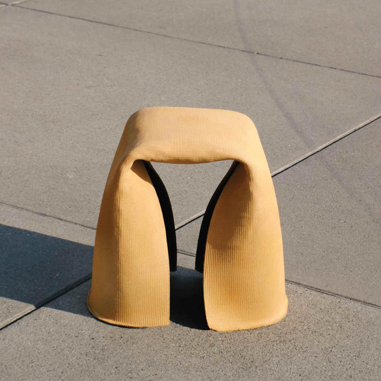 Concrete-Stool-yellow